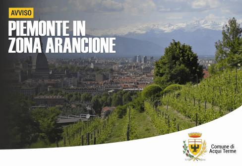 Apre imamgine Piemonte in zona arancione